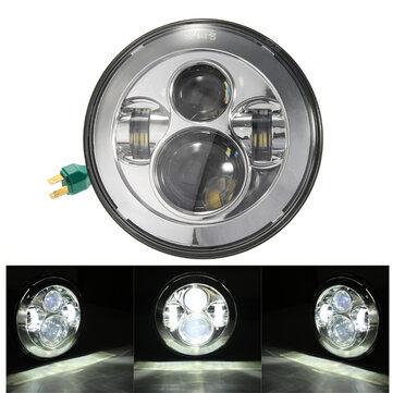 7inç H4 H13 Motosiklet Projektör Hi / Lo LED Far Harley Davidson için Jeep Wrangler