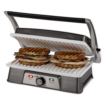 KCASA KC-FM10 Burger Grill Sandwich Maker 2-slice Panini Maker Press Steak Griller Kitchen Appliance