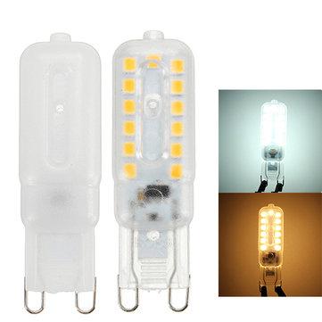 G9 2.5W SMD 5050 Transparent Milky Pure White Warm White LED Light Bulb AC220V