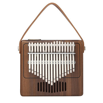 17 keys Portable Kalimba Retro Radio Modeling Thumb Piano Finger Percussion With Piano Bags