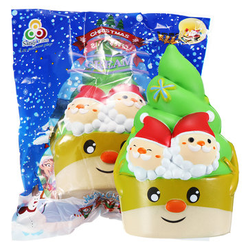 Sanqi Elan Squishy Christmas Ice Cream Slow Rising Toy With Original Package