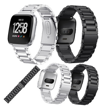 KALOAD Stainless Steel Smart Watch Replacement Strap Screwless Bracelet Belt Band For Fitbit Versa