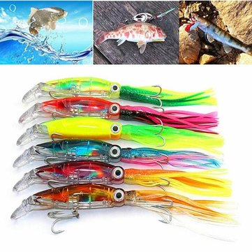 ZANLURE 1 Pcs 14cm Bait Soft Lures Octopus Squid Jig Hooks Shrimp Catch Fishing Tackle Crankbaits