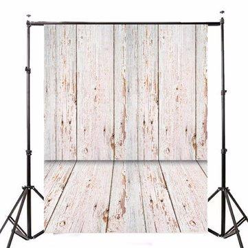 5x7FT Retro Wood Floor Board Studio Vinyl Photography Backdrop Photo Background