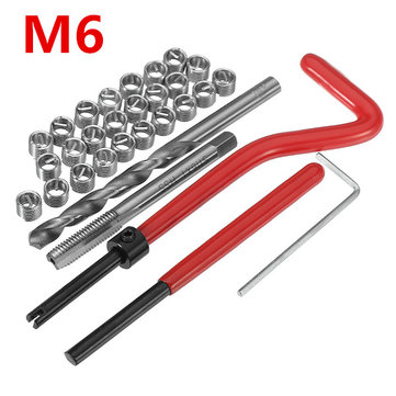 30Pcs Damaged M6 Thread Repair Tool Kit Repair Recoil Insert Kit