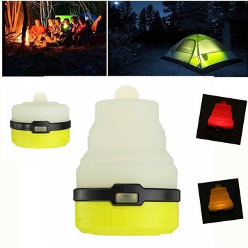 Collapsible Portable 4 Light Modes LED Camping Lamp Battery Operated Colorful CandleTent Light