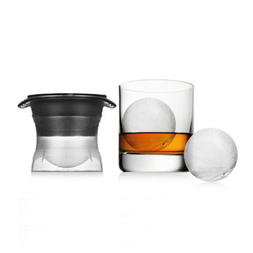 KCASA KC-BW130 2.5 Inches Sphere Ice Molds Silicone Ice Ball Maker Creative Round Ice Cube Ball