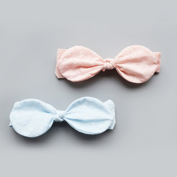Lovely Girls Pink Bowknot Child Rabbit Ears Headband