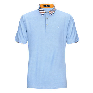 QIPAI Summer Men's Lapel Fashion Leisure POLO T-shirt Short Sleeve Slim POLO Shirt