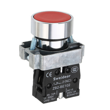 22mm Diameter 1NO 1NC Self Locking Switch Power Push Button Switch
