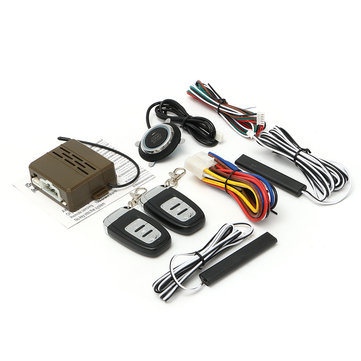 8Pcs Car Alarm Start Engine System PKE Keyless Entry Remote Start & Push Button