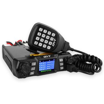 QYT KT-980 Plus VHF 136-174mhz UHF 400-520mhz 75W Dual Band Base Car Mobile Radio Amateur