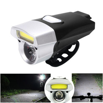 XANES DL14 650LM COB/XM-L T6 Bead 15 Modes Bike Light Waterproof USB Charging Bike Front Light