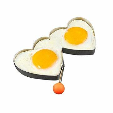 KCASA KC-ER096 Paslanmaz Çelik Kalp Şekli Kızarmış Egg Kalıp Kızartması Omlet Ring Mutfak Aletler