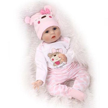 NPK 16 Inch 40cm Reborn Baby Soft Silicone Doll Handmade Lifelike Baby Girl Dolls Play House Toys Birthday Gift