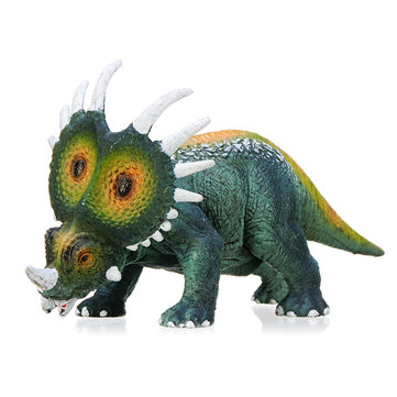 Dinosaur Toy Styracosaurus Diecast Model Kid Gift Collection Trident Dragon