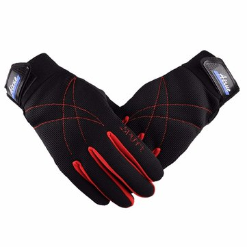 Motorcycle Sport Full Finger Gloves Anti-Slip Breathable Riding Racling Gloves