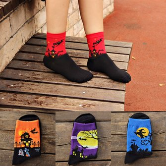 Women Lady Cute Halloween Harajuku Couples Middle Stockings Socks Hosiery