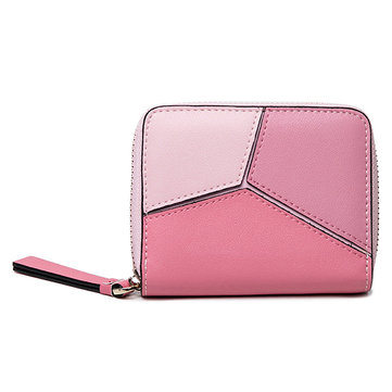 Women Short Genuine Leather Credit Card 11 Card Slots Wallet
