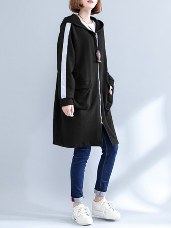 M-5XL Casual Women Hooded Sweatshirt Coats