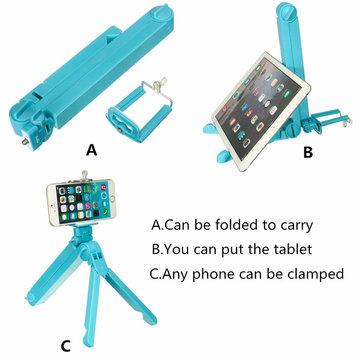 3 in 1 Multifunctionele Vouwbare Vouwstatiefhouder Selfie Stick Voor iPhone Samsung iPad