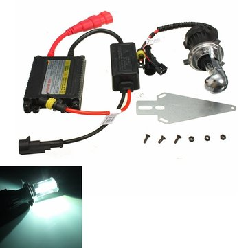 12V 35W 6000K H4 HI/LO Xenon Bulb With HID Ballast Conversion Headlight Kit For Motorcycle