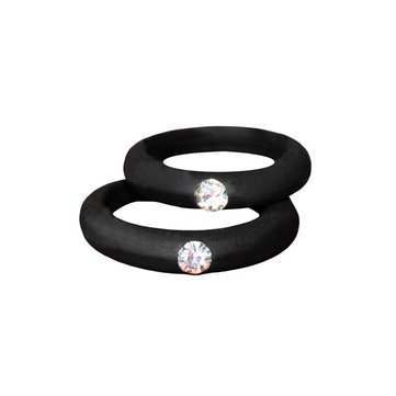 Rhinestones Couple Rings Wedding Gift for Men for Women