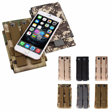 Universal Outdoor Tactical Holster Military Waist Belt Bag Wallet Pouch Purse Phone Case For iPhone