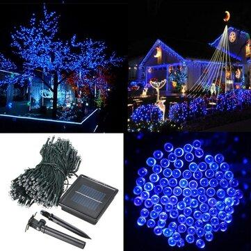 500 LED solar de seqüência de fadas alimentado luz jardim decoração natal festa