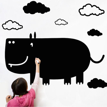 Creative Cartoon Rhino Blackboard Wall Stick For Kid's Room DIY Wall Decals Wall