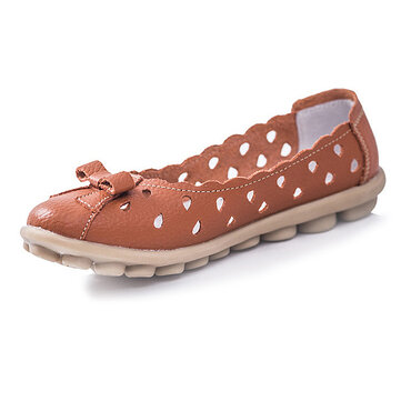 Новых мужчин дышащая мягкая удобная выдалбливают кожа плоский туфли без