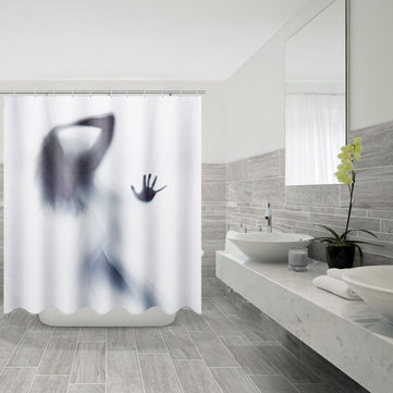 3D Beauty Shadow Waterproof Shower Curtain Bathroom Mildewproof Polyester Curtain Bath Decorations