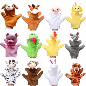 Animal Wildlife Soft Plush Story Hand Finger Glove Puppets Kid Children Toy