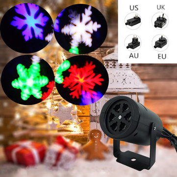 4W Snowflake Laser Projector LED Stage Light Outdoor Garden Landscape Christmas Decor Lamp