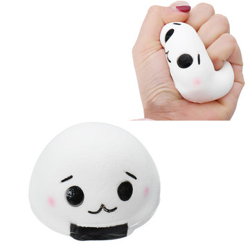 Squishy Onigiri Rice Roll Ball Soft Toy 8x5.5cm Slow Rising Cute Kawaii Collection Gift Decor Toy