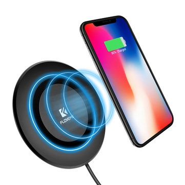 FLOVEME 5W QI Wireless Charger With LED indicator Light Charging Pad For iphone X 8/8Plus Samsung S8