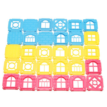 Square Blocks Bricks For Building Magnetic Castle Parts Blocks Toy 30PCS