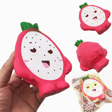 Squishy Fun Pitaya Squishy Jumbo 14cm Dragon Fruit Slow Rising Original Packaging Collection Gift Toy