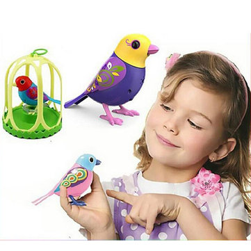 Intelligent Electric Bird Sound Whistle Induction Concert Bird with Cage