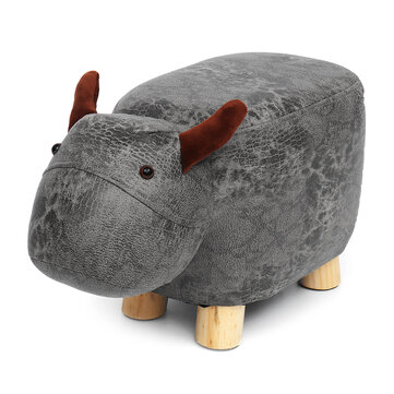 Animal Shape Chair Footstools Padded Cushion Pillow Footrests Rest Seat