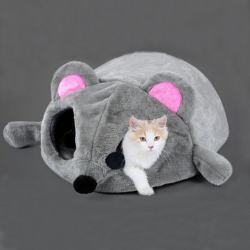Lovely Soft Mouse Shape Pet Dog Cat Sleeping Bag House Pet Blanket Mat
