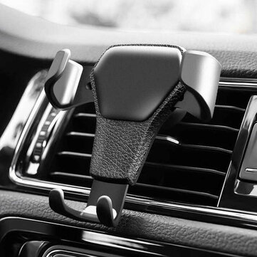 ABS Car Phone Holder Air Vent Outlet Stand Gravity Linkage Clip Mount for iPhone/Samsung/Xiaomi