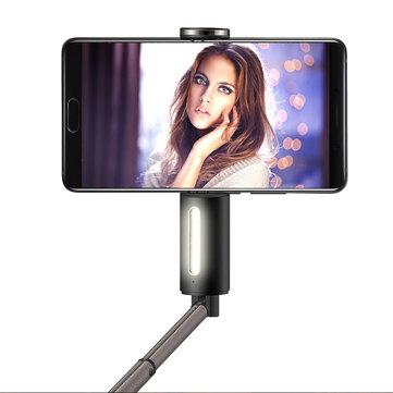 Huawei 2 in 1 Taşınabilir LED Flaş Işığı Bluetooth Özçekim Çubuk iPhone X 8 için Monopod 8 Plus S8 S9 Mi6