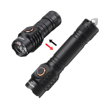 Astrolux S43 4x XP-G3 / Nichia 219C Stepless Dimming 18350 18650 EDC Flashlight Torch Tent Light Tactical Safety Hammer
