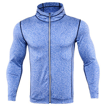 Mens Sports Fitness Training Running Hoodies Sweatshirts