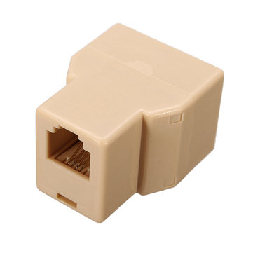 Original Vention VDD-B02-Y 6P4C 1 to 2 Female RJ11 Phones Jack RJ11 Splitter Connector Adapter
