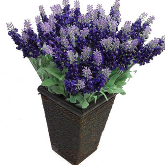 10 Heads Artificial Lavender Silk Flower Charismatic Bouquet Wedding Home Decoration