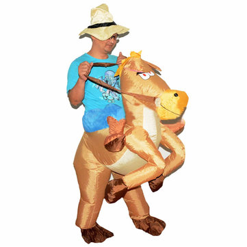 Cowboy Horse Inflatable Costume Carnival Party Fancy Animal Clothing Pour adultes Livraison gratuite