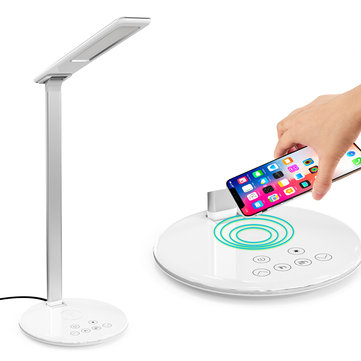 10W Qi Wireless Charger LED Desk Lamp Phone Holder For iPhone XS Max XS 8 Plus Samsung Galaxy S10 Plus Huawei P30 Pro All Qi-enabled Devices