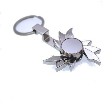 Zinklegering Tri-Spinner Windmolen Shape sleutel Ketting Roterende Fidget Hand Spinner Verminder Stress Speelgoed